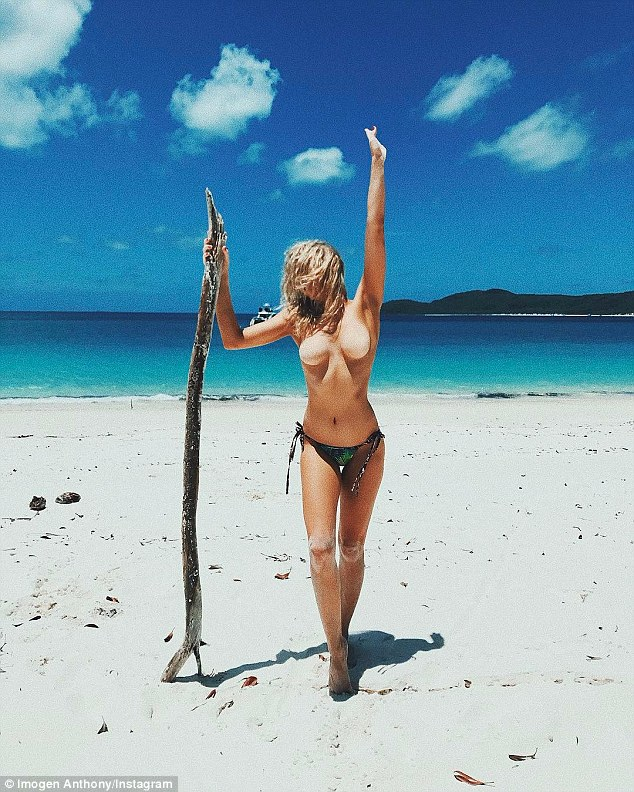 Naked women on nude beach