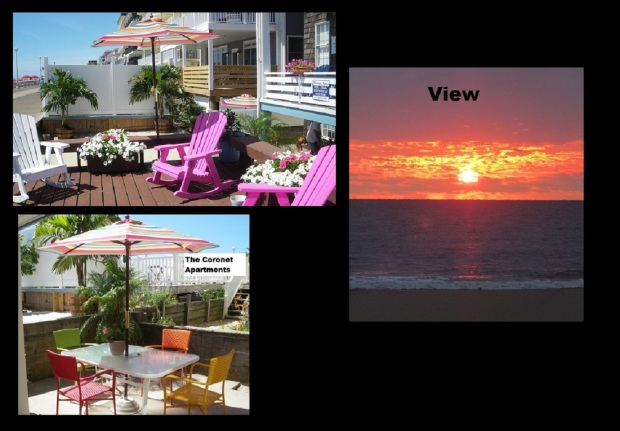 All of Our Apartments Come with an Outside area near the Boardwalk – Balcony – Deck- or patio. Weekly Vacation Condo Rentals Ocean City Maryland!
